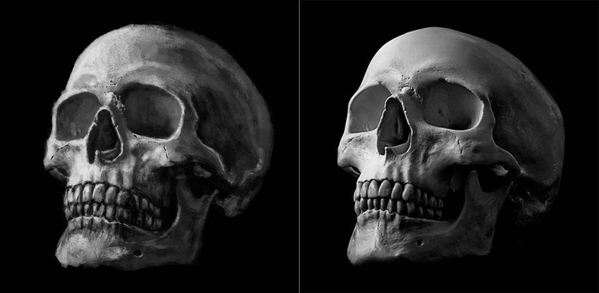 Practicing Drawing Skulls