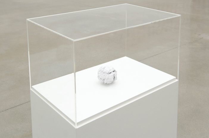 Work No. 294 A Sheet of A5 paper crumpled into a ball , 2003, by Martin Creed