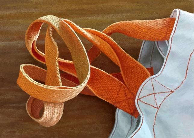 Canvas Bag with Orange Straps