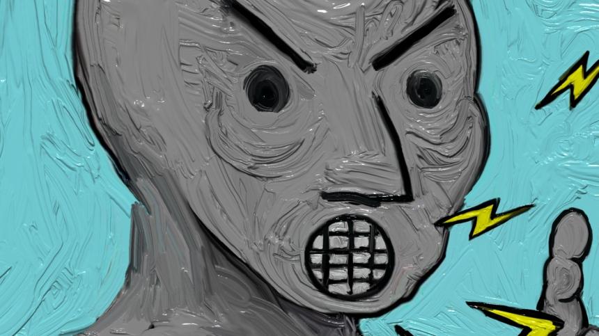 NPC head painting detail
