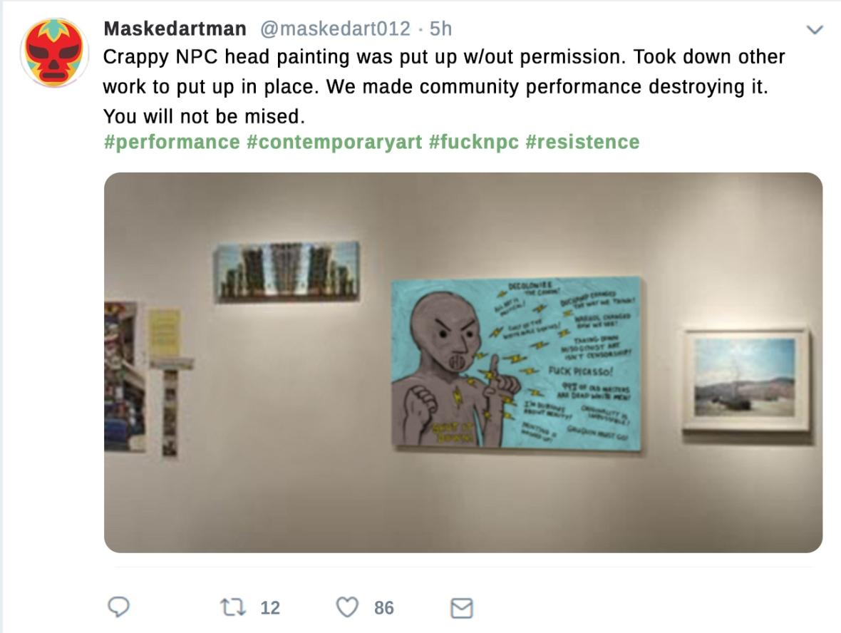 NPC head tweet