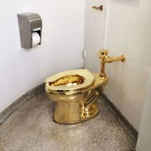 Maurizio Cattelan's Golden Toilet