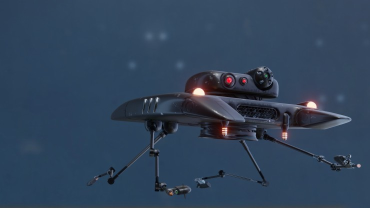 Droid ship in space