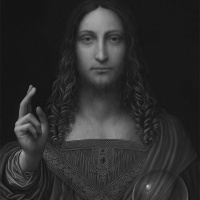 Banned for life for making this version of the Salvator Mundi