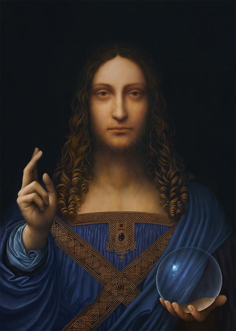 Digital restoration and recreation of Leonardo da Vinci's Salvator Mundi 2021 a
